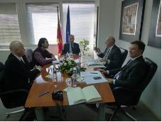Meeting at Skopje the minister of local self government Mr Petre Mitev